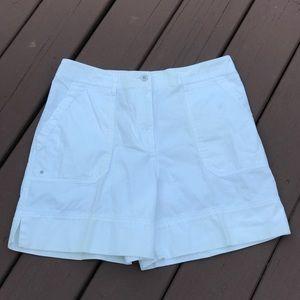 LRL White Bermuda Shorts